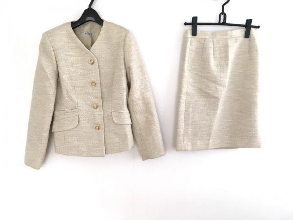 LANVIN(ランバン) スカートスーツ サイズ42 L レディース アイボリー La Collection