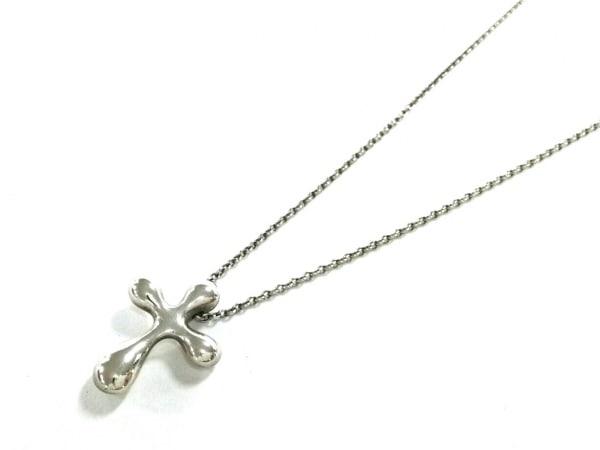 TIFFANY&Co.(ティファニー) ネックレス美品  スモールクロス シルバー