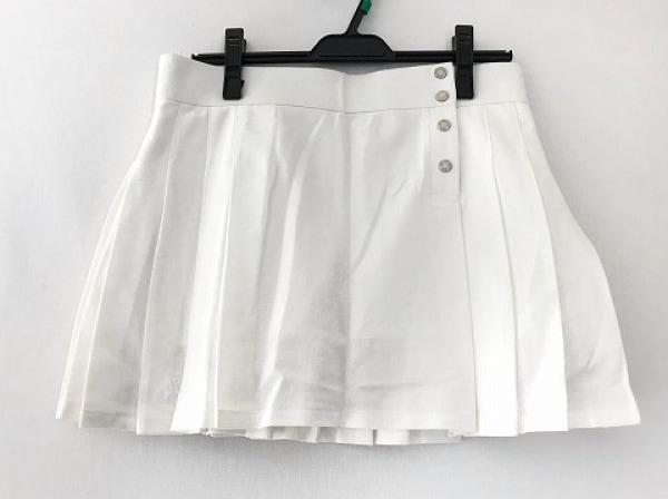 ラルフローレン ミニスカート サイズM レディース美品  アイボリー プリーツ