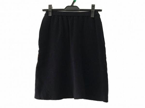 FOXEY(フォクシー) スカート サイズ40 M レディース美品  ダークネイビー ニット