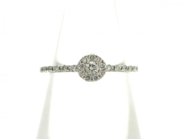PonteVecchio(ポンテヴェキオ) リング美品  K18WG×ダイヤモンド 0.14カラット