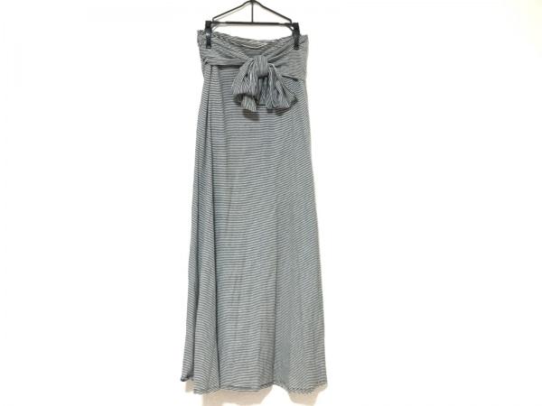 NOKO OHNO(ノコオーノ) 巻きスカート レディース美品  黒×白 ボーダー