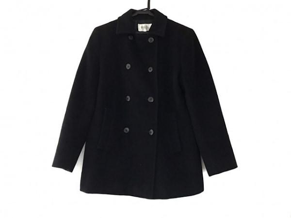 自由区/jiyuku(ジユウク) Pコート サイズ38 M レディース 黒