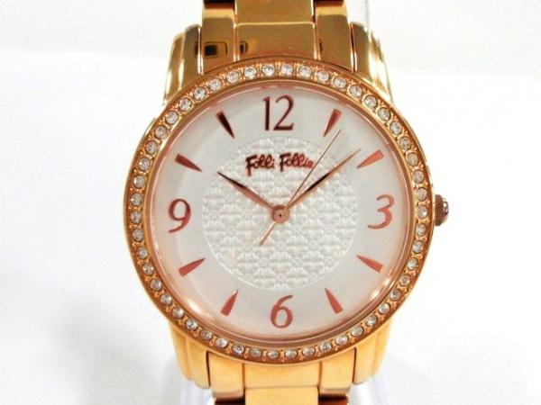 FolliFollie(フォリフォリ) 腕時計美品  WF17B0006BP レディース ラインストーン 白