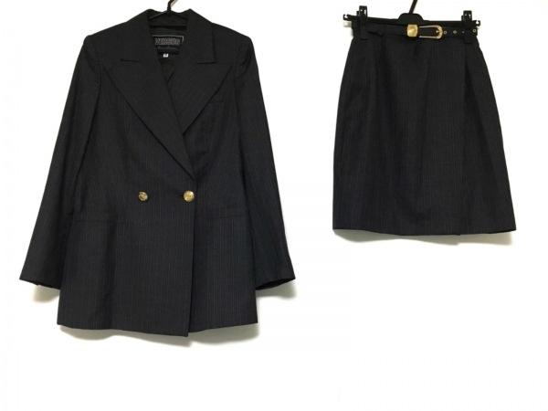 ヴェルサス スカートスーツ サイズ38 M レディース美品  ストライプ/巻きスカート