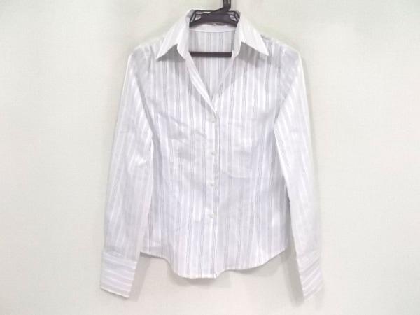 ナラカミーチェ 長袖シャツブラウス サイズ1 S レディース美品  白×ネイビー