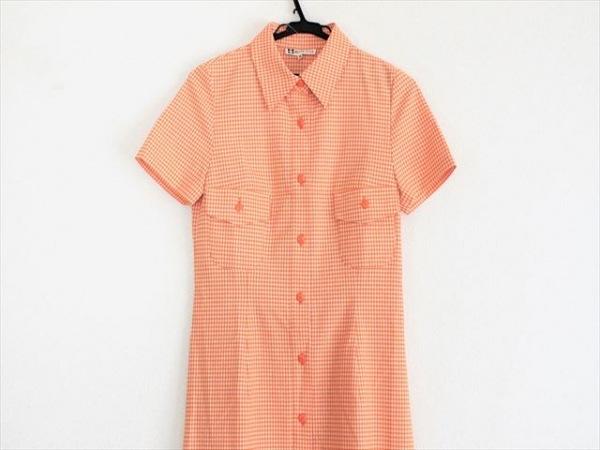 MUSEE D'UJI(ミュゼドウジ) ワンピース サイズ38 M レディース美品  オレンジ×白