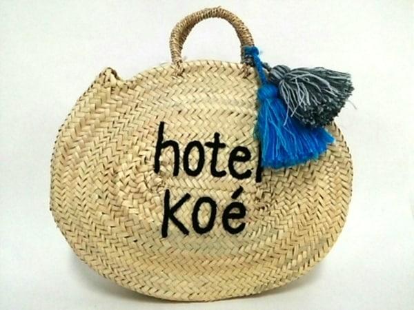 ファティマモロッコ トートバッグ美品  アイボリー hotel koe ストロー