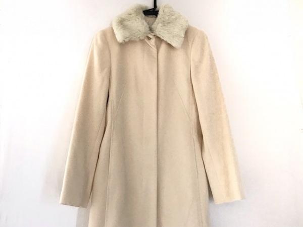 クミキョク コート サイズ3 L レディース美品  アイボリー 冬物/カシミヤ