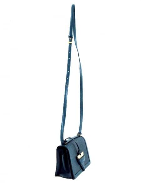 LOEWE(ロエベ) ショルダーバッグ美品  バルセロナ ブルー ミニサイズ レザー