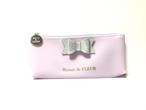Maison de FLEUR(メゾンドフルール) ペンケース美品  パープル リボン ラバー