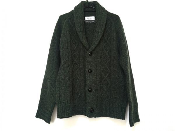 EDIFICE(エディフィス) ブルゾン サイズ46 XL メンズ美品  グリーン ニット/冬物