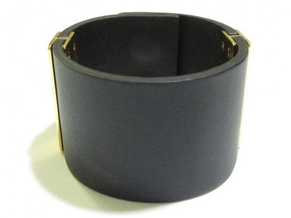 MARNI(マルニ) ブレスレット レザー×金属素材 黒×ゴールド