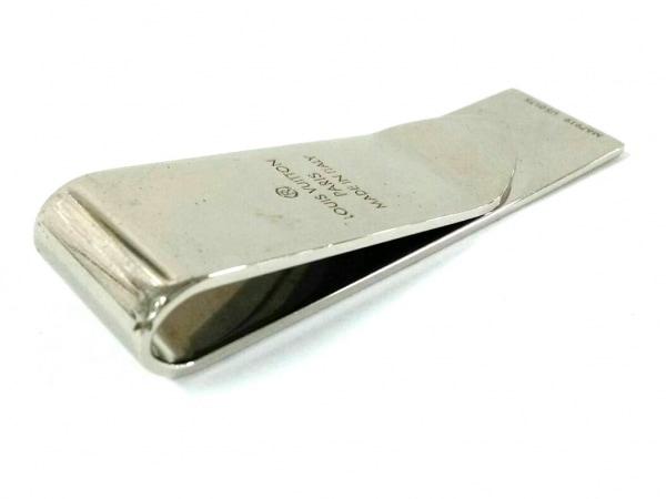 ルイヴィトン マネークリップ美品  ビルクリップ・ダミエ M67919 シルバー 金属素材