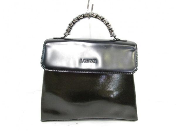 LOEWE(ロエベ) ハンドバッグ - 黒 金属ハンドル レザー