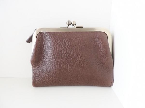 土屋鞄製造所(ツチヤカバンセイゾウショ) 2つ折り財布 ダークブラウン がま口 レザー