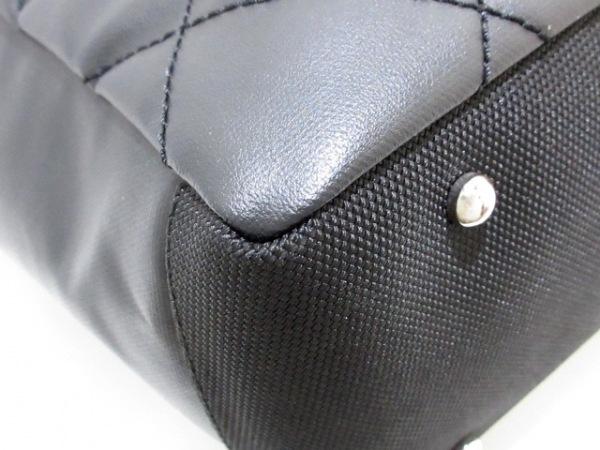CHANEL(シャネル) トートバッグ美品  パリビアリッツトートMM 黒 シルバー金具