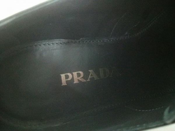 PRADA(プラダ) シューズ 38 レディース 黒 ウイングチップ エナメル(レザー)