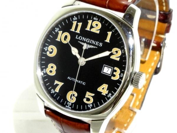 LONGINES(ロンジン) 腕時計 スピリット L2.700.4 メンズ 革ベルト 黒