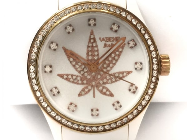 VABENE(ヴァベーネ) 腕時計 - レディース リーフ/ラインストーン アイボリー