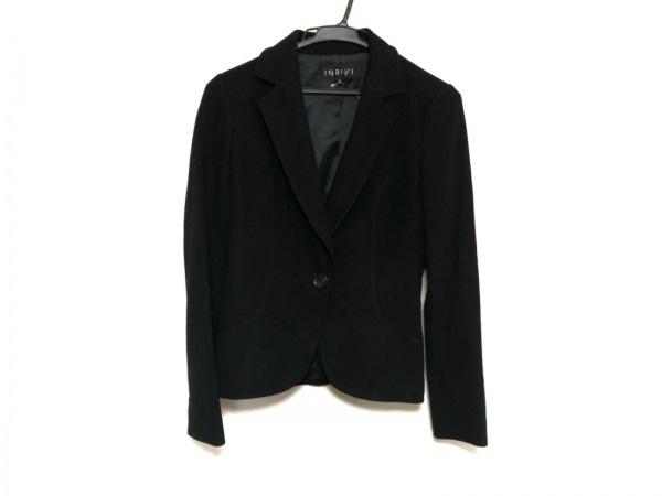 INDIVI(インディビ) ジャケット サイズ36 S レディース美品  黒 冬物