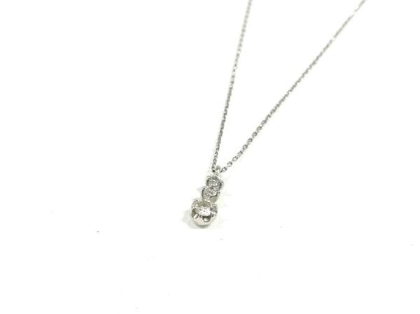 カナルヨンドシー ネックレス美品  Pt850×ダイヤモンド 総重量1.3g/3Pダイヤ