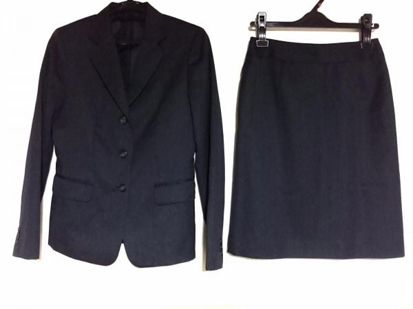 COMME CA ISM(コムサイズム) スカートスーツ レディース美品  ダークグレー