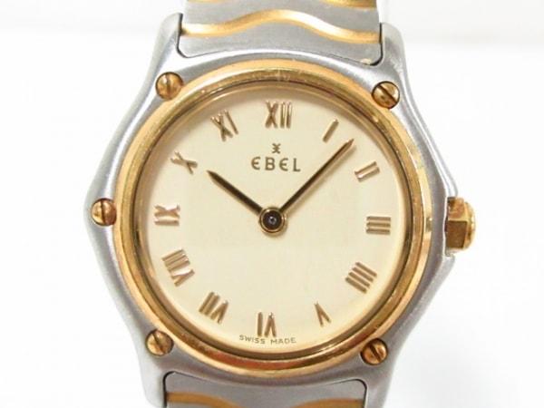 EBEL(エベル) 腕時計美品  E1157111 レディース K18ゴールドベゼル アイボリー