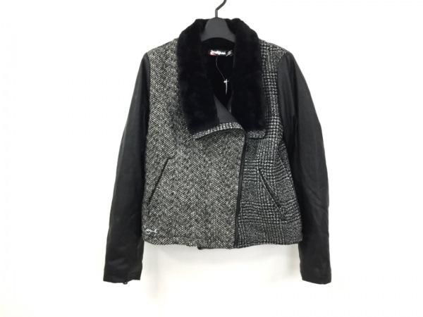 Desigual(デシグアル) ブルゾン サイズ40 XL レディース美品  黒×白