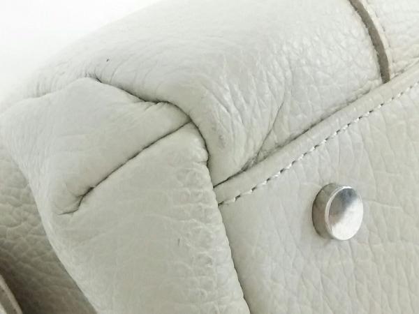 GINZA Kanematsu(ギンザカネマツ) ハンドバッグ美品  白 レザー