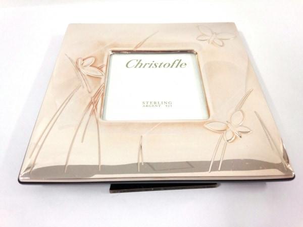 Christofle(クリストフル) 小物美品  ゴールド 蝶/写真立て 金属素材×ウッド×ガラス