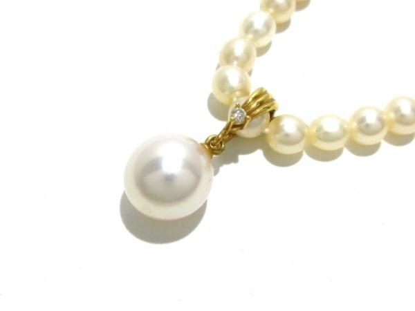 田崎真珠(タサキシンジュ) ネックレス パール×K18YG×ダイヤモンド アイボリー