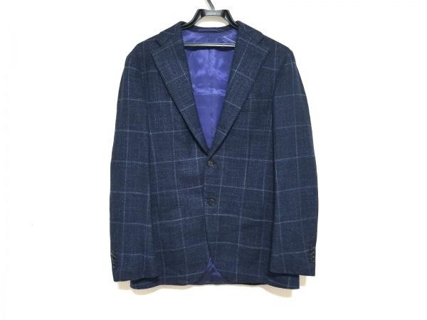 BRILLA(ブリラ) ジャケット サイズ46 XL メンズ美品  ダークネイビー×ライトブルー