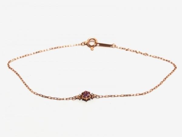 カナルヨンドシー ブレスレット美品  K10×カラーストーン×ダイヤモンド ピンク