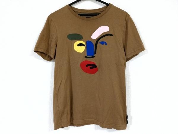 FENDI(フェンディ) 半袖Tシャツ サイズ46 S メンズ ブラウン×黒×マルチ