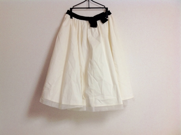 M'S GRACY(エムズグレイシー) スカート レディース 白×黒 リボン