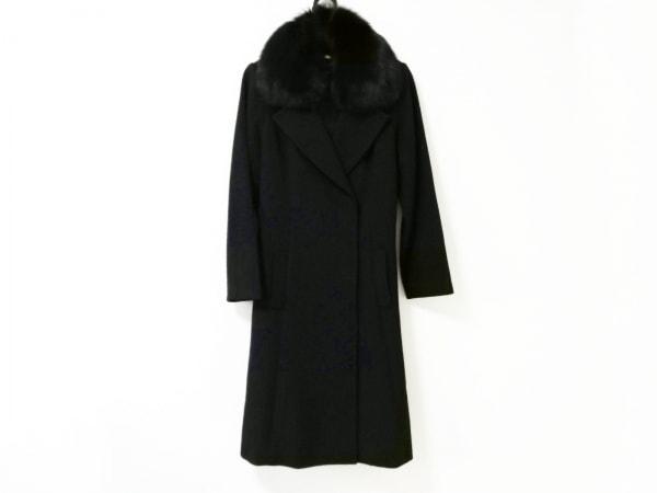 ジャスグリッティー コート サイズ2 M レディース美品  黒 冬物/ファー/ロング丈