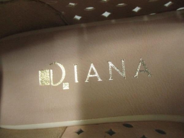 DIANA(ダイアナ) パンプス 22 1/2 レディース ベージュ オープントゥ/リボン レザー