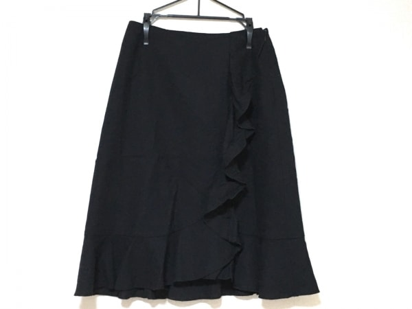 ギャラリービスコンティ スカート サイズ2 M レディース美品  黒 フリル