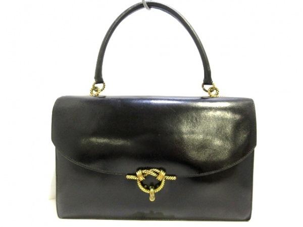 HERMES(エルメス) ハンドバッグ コルドリエール 黒 ボックスカーフ