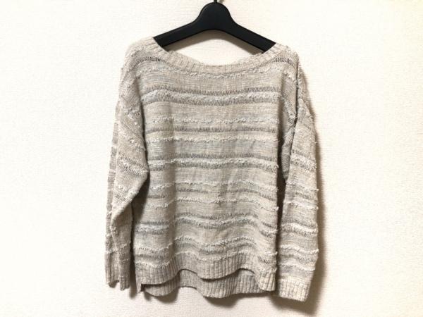 JUSGLITTY(ジャスグリッティー) 長袖セーター サイズ2 M レディース ラメ/リボン