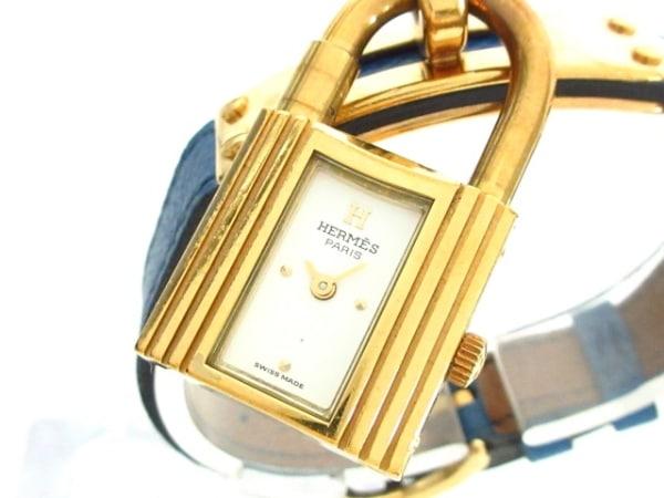 HERMES(エルメス) 腕時計 ケリーウォッチ - レディース 革ベルト/〇V 白