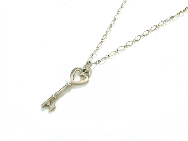 TIFFANY&Co.(ティファニー) ネックレス美品  ハートキー シルバー 鍵