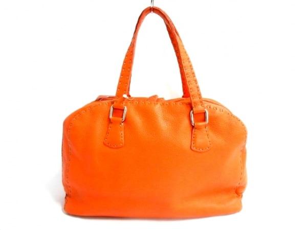 FENDI(フェンディ) ハンドバッグ セレリア - オレンジ レザー
