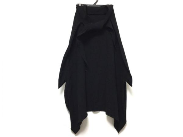 A.POC(イッセイミヤケ) ロングスカート レディース 黒 ニット/変形デザイン