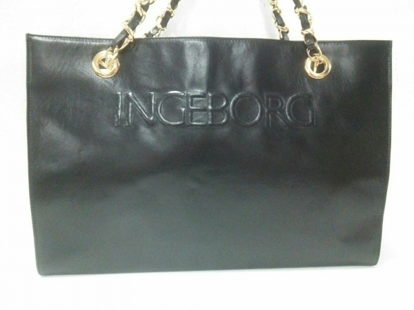 INGEBORG(インゲボルグ) トートバッグ 黒 レザー
