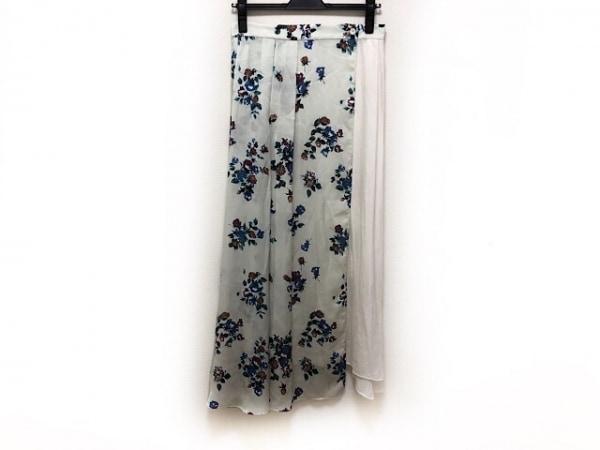 アウラ スカート サイズ1 S レディース美品  ライトグリーン×ブルー×マルチ 花柄