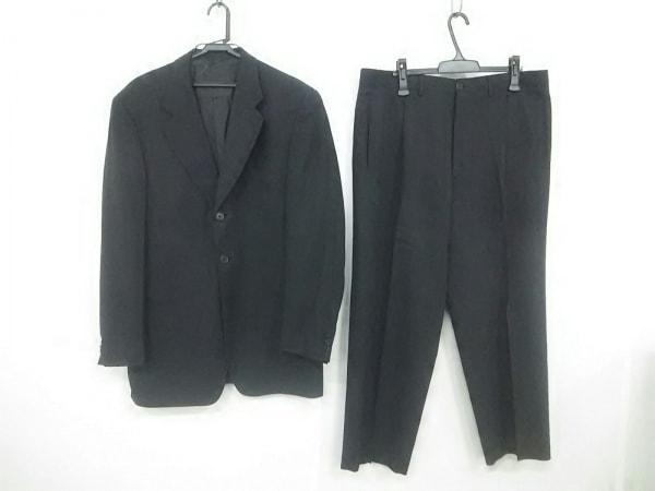 ジョルジオアルマーニ シングルスーツ サイズ52 L メンズ 黒×ダークグレー