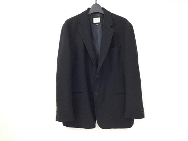 アルマーニコレッツォーニ ジャケット サイズ54R メンズ 黒×ダークネイビー