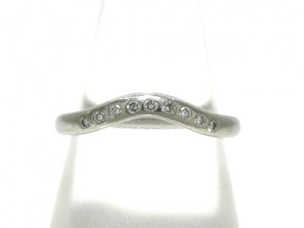 ティファニー リング カーブドバンドリング Pt950×ダイヤモンド 9Pダイヤ